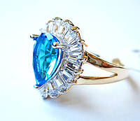 Перстень Королевы лазурит, размер  16, 17, 18, 19