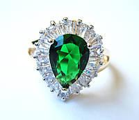 Перстень Королевы цаворит, размер  16, 17, 18, 19