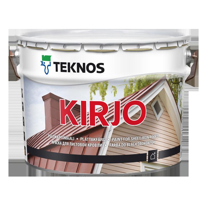 Полуматовая алкидная антикоррозионная краска для листовой кровли Teknos Kirjo 9 л