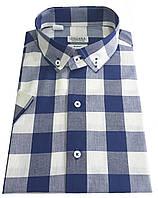 Мужская рубашка классическая с коротким рукавом в клетку №T 12-27 - 4624 V7  RC
