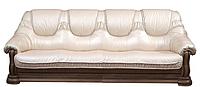 """Классический кожаный диван """"Grizli"""" (Гризли) Курьер Четырехместный (280 см), Не раскладной, натуральная кожа"""