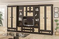 Гостиная «Тристан», производитель Мебель-Сервис. Комплект витрина + два шкафа