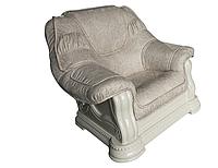 """Классический кожаный диван """"Grizli"""" (Гризли) Курьер Кресло (100 см), Не раскладной, ткань"""