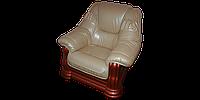 """Классический кожаный диван """"Grizli"""" (Гризли) Курьер Кресло (100 см), Не раскладной, экокожа"""