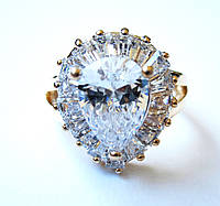 Перстень Королевы аквамарин, размер  16, 17, 18, 19, 20