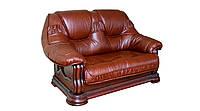 """Классический кожаный диван """"Grizli"""" (Гризли) Курьер Двухместный (160 см), Не раскладной, натуральная кожа"""