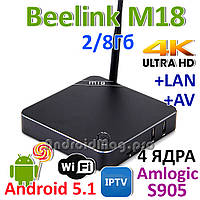 Beelink M18 (MI8) Amlogic S905 Android 5.1 2/8Gb TV приставка IPTV UltraHD 4K Sunvell