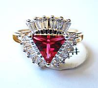Перстень Елизавета розовый кварц, размер  16, 17, 18, 19, 20