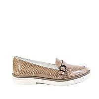 Туфли женские кожаные Bogun 2088 т. беж. кож.