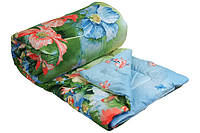 """Демисезонное  шерстяное одеяло """"Summer flowers"""", двуспальное."""