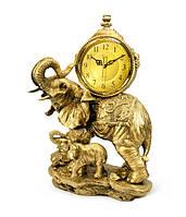 Консольные (настольные) часы фигурами Слоников Jibo 540A, 47см