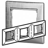 Рамка 3-ая горизонтальная Legrand Valena 770343 алюминий модерн