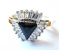 Перстень Елизавета гагат, размер  16, 17, 18, 19, 20