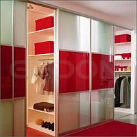 Гардероб цветное стекло