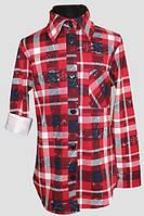 Сорочка для дівчинки Nando 2656 клітинка червоний 152