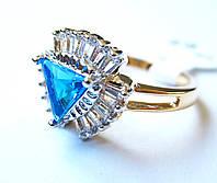 Перстень Елизавета лазурит, размер  16, 17, 18, 19, 20