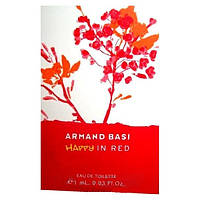 Armand Basi Happy In Red vial (Пробник Арманд Баси Хэппи ин Ред) EDT 1 ml