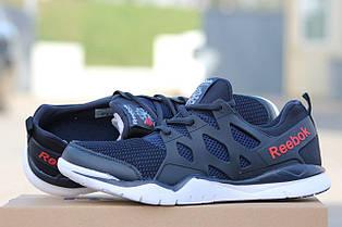 Мужские кроссовки Reebok летние,сетка синие