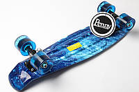 Скейт Marcos Космос на синих прозрачн колесах