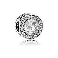 """Шарм """"Ажурные сердца"""" из серебра Pandora, 791725CZ"""