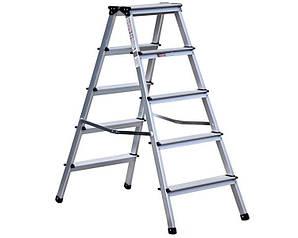 Двухсторонняя алюминиевая лестница Olympos 2x5 ступени