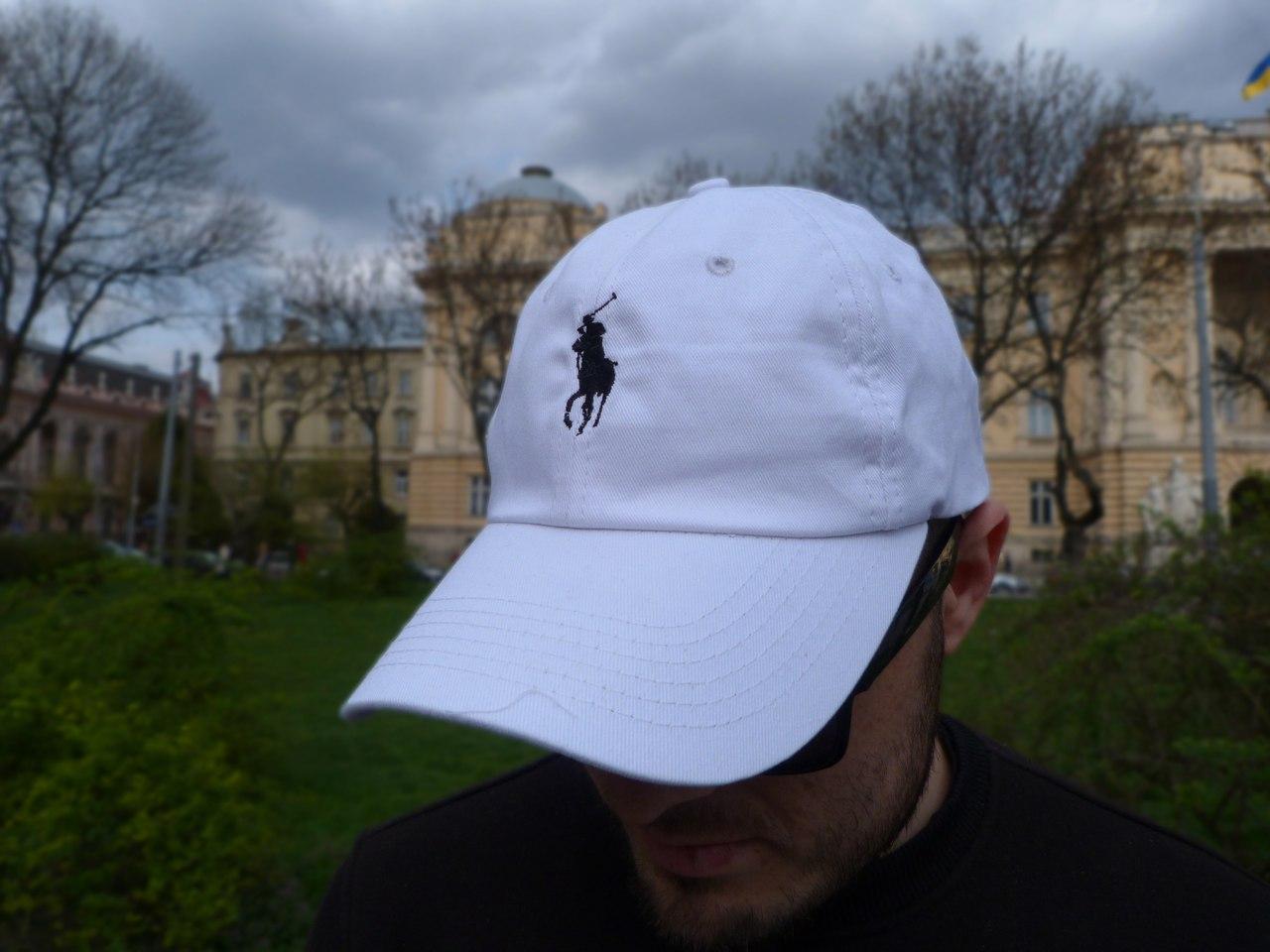 Кепка Cap by Ralph Lauren белая. Живое фото! (Реплика ААА+)