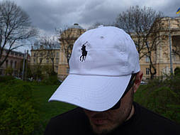 Кепка Cap by Ralph Lauren белая. Живое фото! (Реплика ААА+)