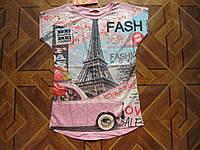 Детские летние футболки 3Д для девочек 7-13 лет  Турция