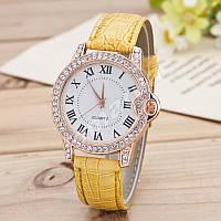 Изысканные женские часы со стразами Yellow