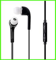 Модные вакуумные наушники с микрофоном, отличное качество звука (черный)