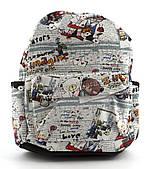 Небольшая женская сумка-рюкзак Б/Н art. 8822 мишки/детский принт