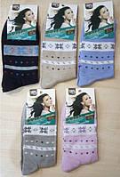 Носки Ruifa женские снежинки с полосками Венгрия
