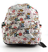 Небольшая женская сумка-рюкзак Б/Н art. 8822 мишки/сердечки/детский принт