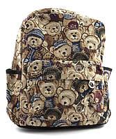 Небольшая женская сумка-рюкзак Б/Н art. 8822 много мишек/детский принт