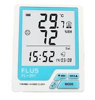 Цифровой термо-гигрометр Flus FL-201 (-20-60 С; 10%…99%)