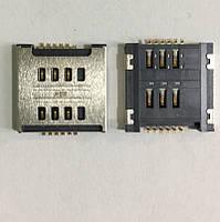Конектор SIM LG D285/D325/D380/E455/E615/P715/T370/T375 на 2 SIM