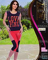Женский комплект футболка+лосины Турция. MODY 7034-R. Размер 44-46.
