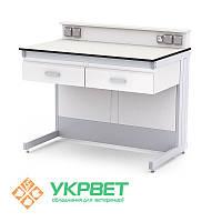 Лабораторный стол для приборов с ящиками и полкой