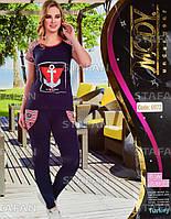 Женский комплект футболка+лосины Турция. MODY 6972-R. Размер 44-46.