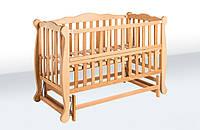 Детская кровать маятник «Натали» с откидной боковиной