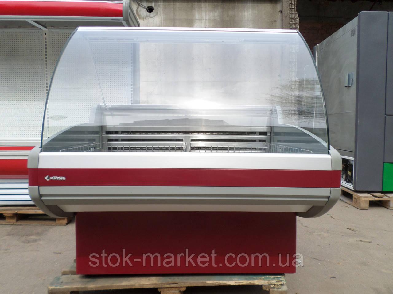 Морозильная витрина Cryspi Gamma 1200 б/у, прилавок морозильный б у.