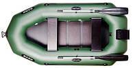 Двухместная гребная надувная лодка Bark (Барк) B-250CN с транцем и реечным настилом.