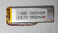 Аккумулятор для плпншета универсальный 04*33*100  1800 mah
