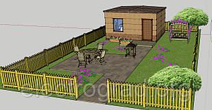 Дачный домик. Домик для садового инвентаря.