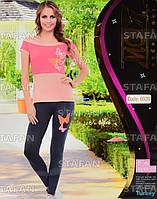 Женский комплект футболка+лосины Турция. MODY 6939-R. Размер 44-46.