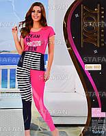 Женский комплект футболка+лосины Турция. MODY 6933-R. Размер 44-46.