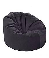 Черное большое кресло мешок из кож зама Зевс