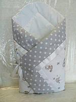 Летний конверт-одеяло на выписку, в коляску, кроватку для новорожденного