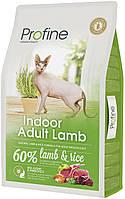 Сухой суперпремиум корм для домашних кошек Профайн индор (Profine indoor), с мясом ягненка, 10 кг