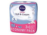 Детские влажные салфетки Nivea Baby Soft & Cream, 4х63 шт.